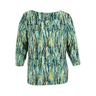 JM Collection Women's Abstract Print Top
