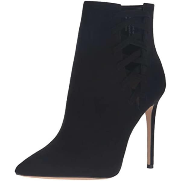 Aldo Womens Tuxedo Suede Pointed Toe Ankle Fashion Boots - 8.5