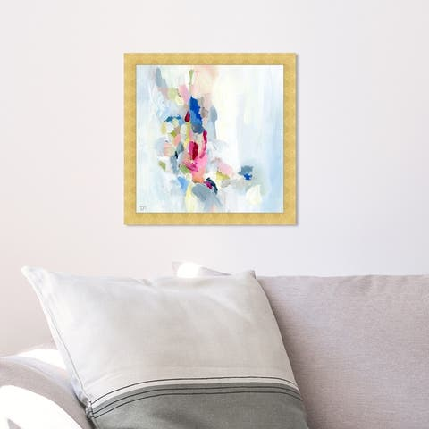 Oliver Gal 'Mi Alegria' Abstract Framed Wall Art Prints Paint - White, Pink