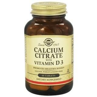 Solgar Calcium Citrate with Vitamin D3 (60 Tablets)