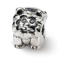 Sterling Silver Reflections Kids Lion Clip Bead (4mm Diameter Hole)