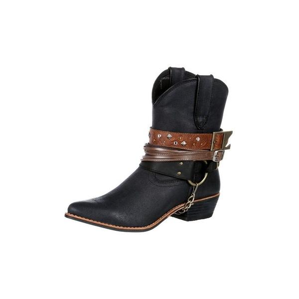 Durango Western Boots Womens Crush Accessory Bootie Black