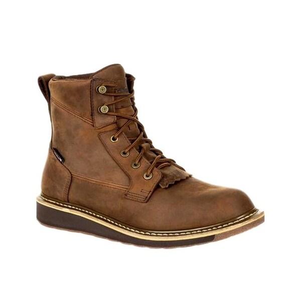 Rocky Western Boots Mens Cody Waterproof Rubber Vintage Brown