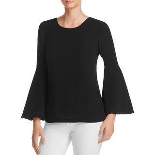 Elizabeth and James Womens Raleigh Blouse Bell Sleeves Solid - 2