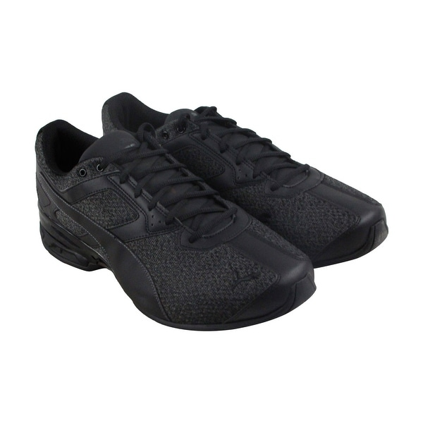 Puma Tazon 6 Knit Mens Black Textile Athletic Lace Up Running Shoes