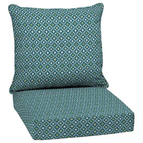 Arden Selections Alana Tile Outdoor Deep Seat Cushion Set - 24 W x 24 D in.