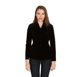 Dior Women's Black Velvet Three Button Blazer