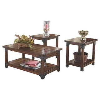 Murphy Medium Brown Occasional Table Set T352 13   Set Of 3 Murphy Medium  Brown