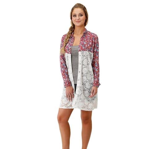 Roper Western Shirt Womens Long Sleeve Multi-Color