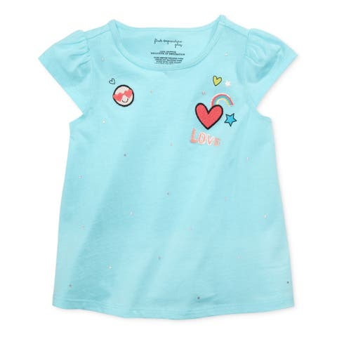 First Impressions Girls Patch-Print Graphic T-Shirt