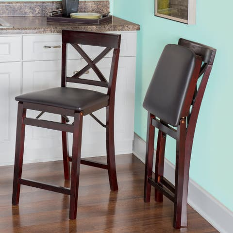 Porch & Den Lynmar Back Folding Counter Stool