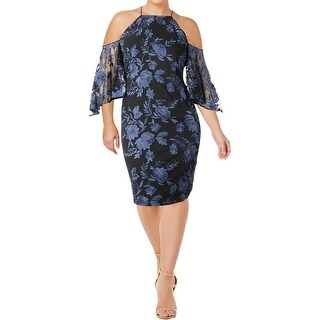 Lauren Ralph Lauren Womens Tay Clubwear Dress Cold Shoulder Embroidered