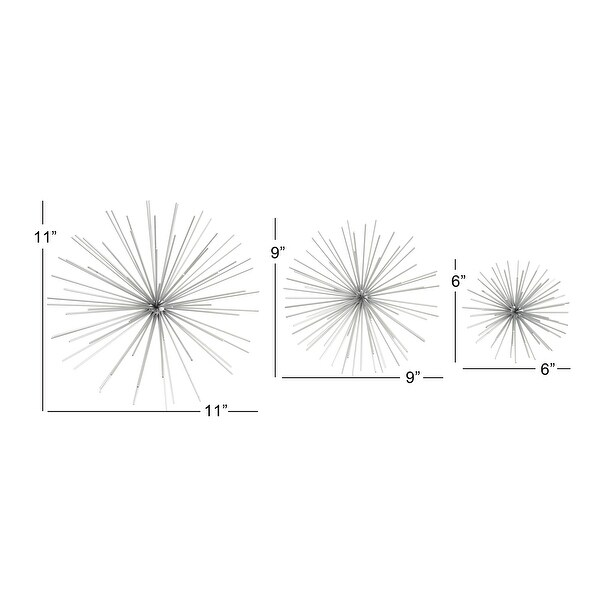 Tin Contemporary Wall Decor Abstract (Set of 3)