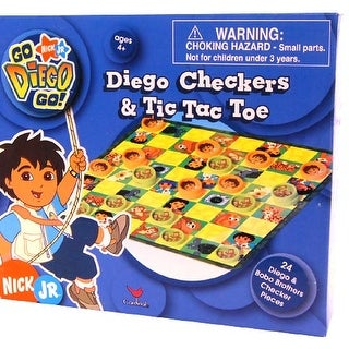 Nickelodeon Checkers & Tic Tac Toe Game Diego - multi