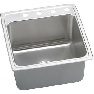 """Elkay DLR222212  Gourmet 22"""" Single Basin 18-Gauge Stainless Steel Kitchen Sink for Drop In Installations with SoundGuard"""