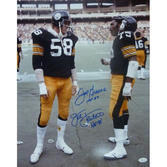 03580fcad Shop Joe Greene Jack Lambert Autographed Pittsburgh Steelers 16x20 Photo  JSA - Free Shipping Today - Overstock - 13484427