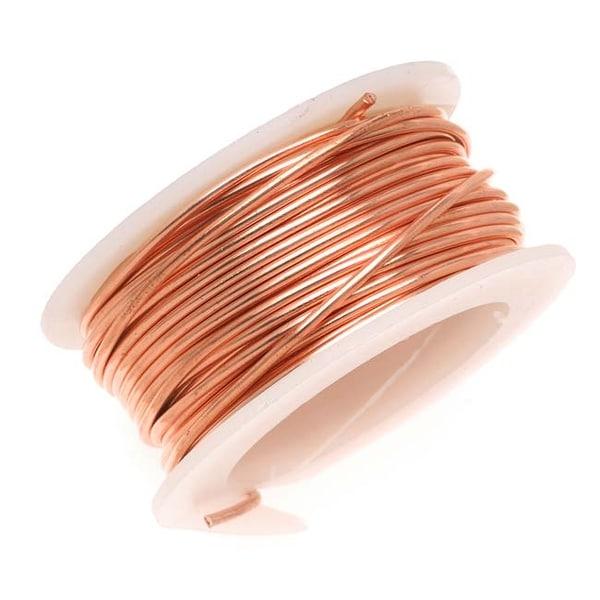 Artistic Wire, Copper Craft Wire 18 Gauge Thick, 4 Yard Spool, Bare Copper