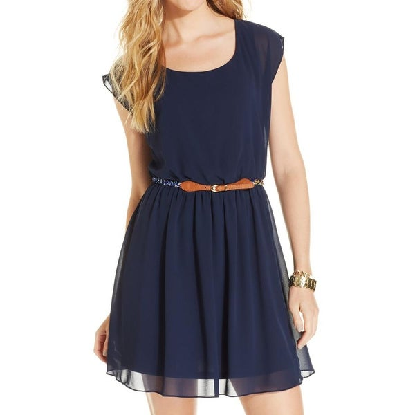 BCX Womens Juniors Casual Dress Chiffon Mini