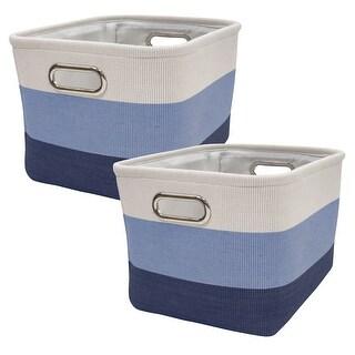 Lambs & Ivy Blue Ombre Nursery Storage Bin/Baskets - 2 Pack