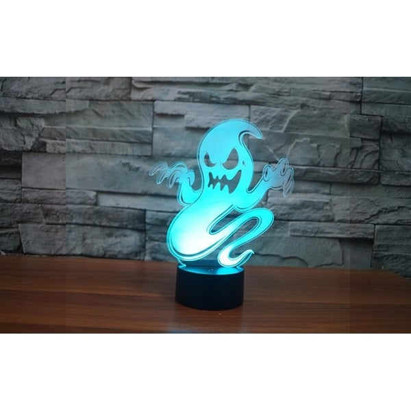 3D Illusion Halloween Ghost Lamp Acrylic LED Night Light Micro USB Table Desk Lamp