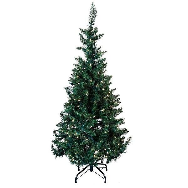 4.5' Pre-Lit LED Green Pine Tree