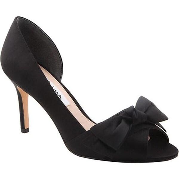c596fb18e29 Shop Nina Women s Forbes2 D Orsay Pump Black Luster Satin - On Sale ...