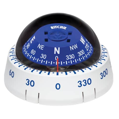 Ritchie xp-99w kayaker compass surface mount - white
