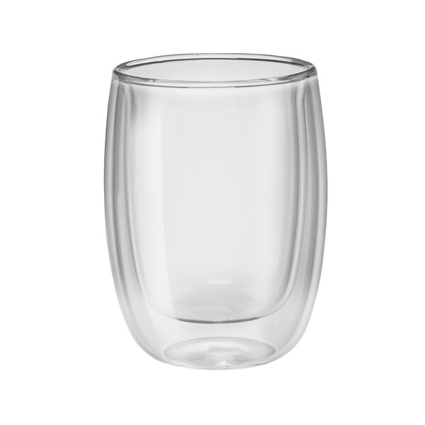 ZWILLING Sorrento 2-pc Double-Wall Glass Coffee Cup Set - Clear
