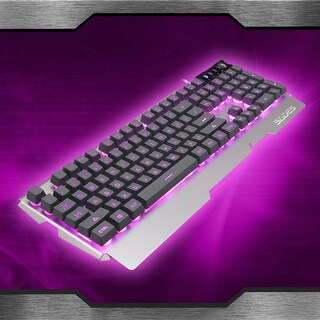 Sades K9 Backlit Pro Gaming USB Keyboard Illuminated 3 colors LED Wired for PC