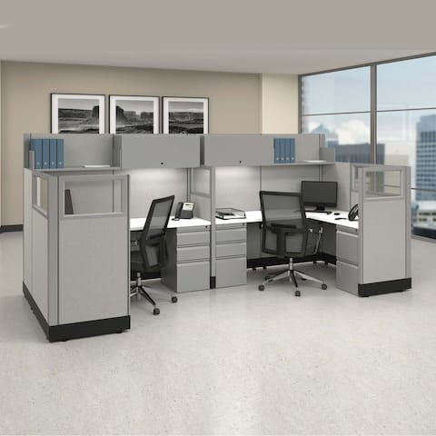 Modular Office Workstations 53-67H 2pack Bullpen Unpowered