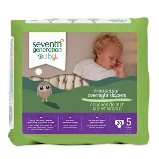 Seventh Generation Bby Diapers, Stage 5, Ovrnight - (Case of 4 - 20 ct)