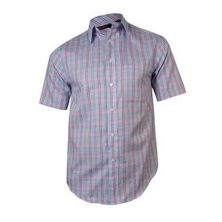 Roundtree & Yorke Men's TravelSmart Gingham Herringbone Shirt - S