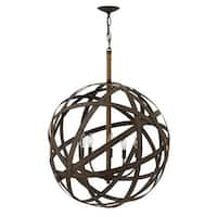 Fredrick Ramond FR40705 5 Light 1 Tier Chandelier from the Carson Collection - vintage iron