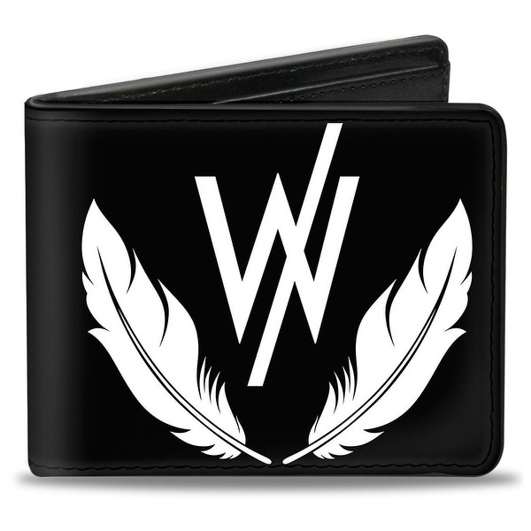 "Sleeping With Sirens ""W"" Logo W Feathers Black White Bi Fold Wallet - One Size Fits most"
