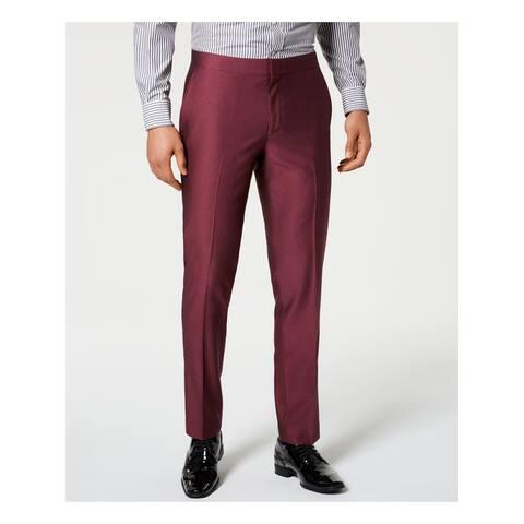 RYAN SEACREST Mens Purple Slim Fit Stretch Pants 32W X 30L - 32W X 30L