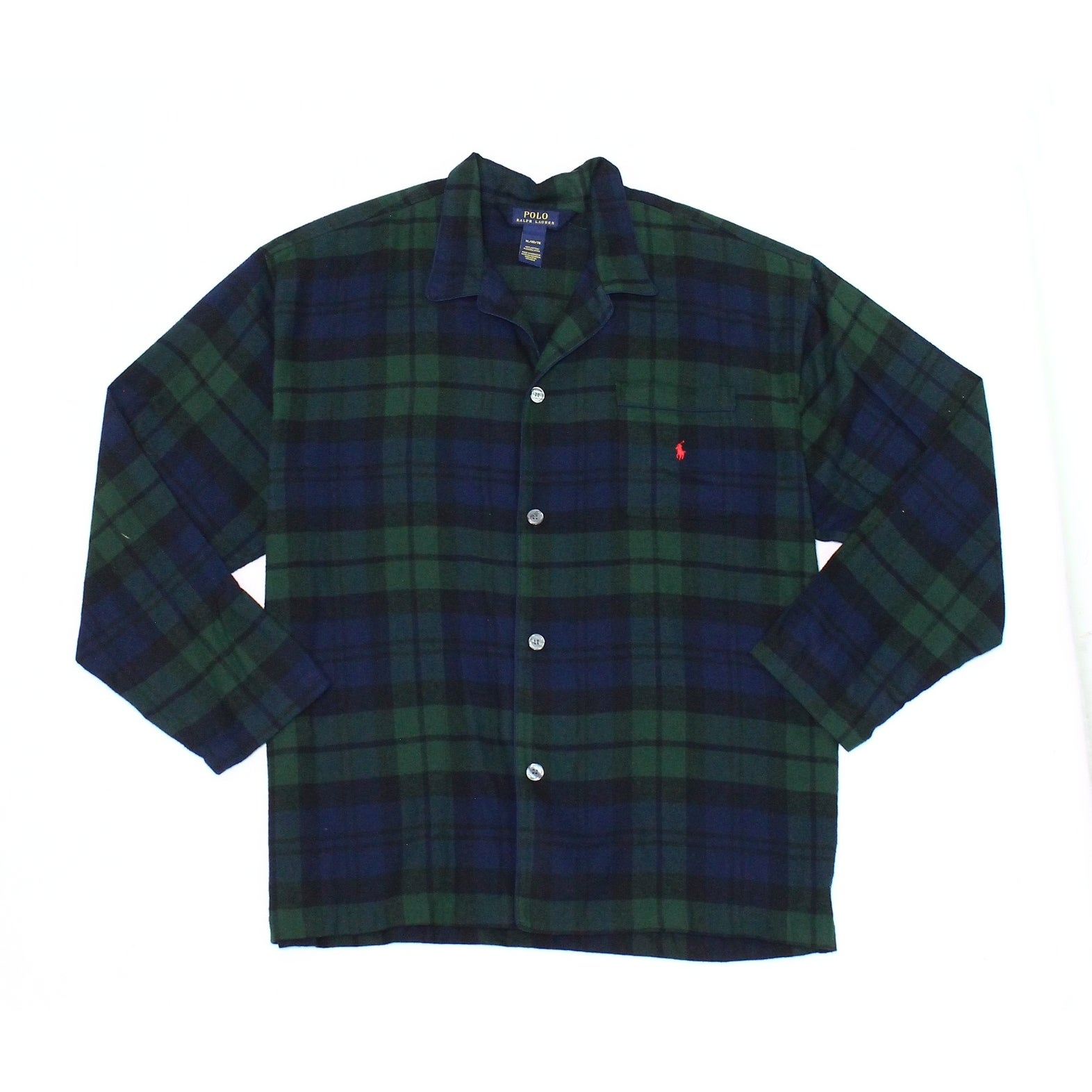 9a3ef0a5 Shop Polo Ralph Lauren NEW Green Mens Size XL Plaid Flannel Pajama Shirt -  Free Shipping On Orders Over $45 - Overstock - 19795868