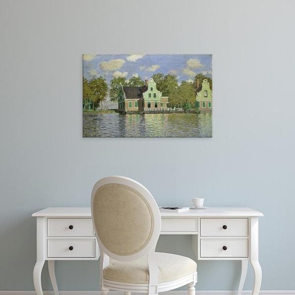 Easy Art Prints Claude Monet's 'The House on the River Zaan in Zaandam' Premium Canvas Art