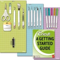 Cricut Tools Bundle-Mats Weeding Tools Pens Cutting Blade & Basic Tools Guide