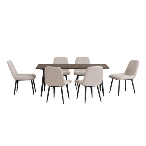 Sunjoy 7 piece Mid-Century Modern Dining Set