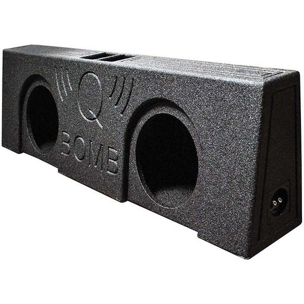 "Qpower QBOMB Dual 10"" Vented Empty Box Behind Seat Mount"