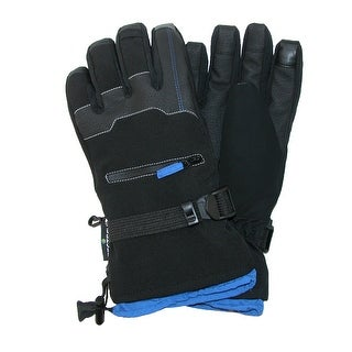 Grand Sierra Men's Bec-Tec Texting Snow Glove with Zippered Pocket - Black