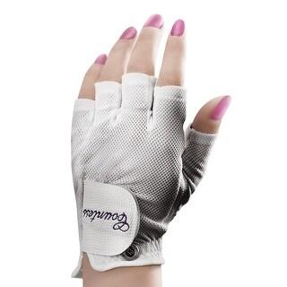 Powerbilt Countess Half-Finger Golf Glove - Ladies LH Large