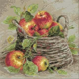"Riolis Diamond Mosaic Embroidery Kit 10.75""X10.75""-Ripe Apples"