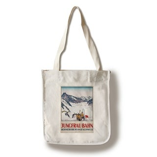 Jungfrau Bahn (Cardinaux) Vintage Poster (100 Cotton Tote Bag - Reusable)