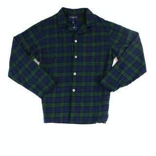 Club Room NEW Green Navy Mens Size Small S Plaid Nightshirt Sleepwear