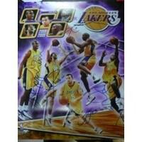Signed Lakers Los Angeles Wold Champions 2009 16x20 By Kobe Bryant Pau Gasol Lamar Odom Andrew Bynu