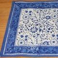 Handmade Floral Rajasthan Block Print Tablecloth 100% Cotton Rectangular Square Round Napkins - Thumbnail 4