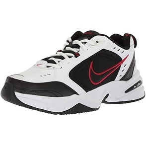 hot sale online d6065 fa281 Shop Nike Air Monarch IV Training Shoe (4E) - White Black Varsity Red, Size  10 US - Free Shipping Today - Overstock - 20976215