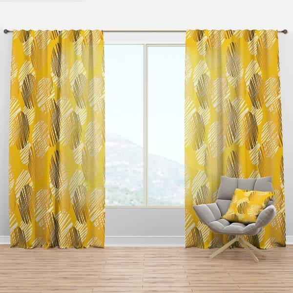 Shop For Designart Abstract Retro Geometric Iii Mid Centurycurtain Panel Get Free Delivery On Everything At Overstock Your Online Home Decor Outlet Store Get 5 In Rewards With Club O 29626155
