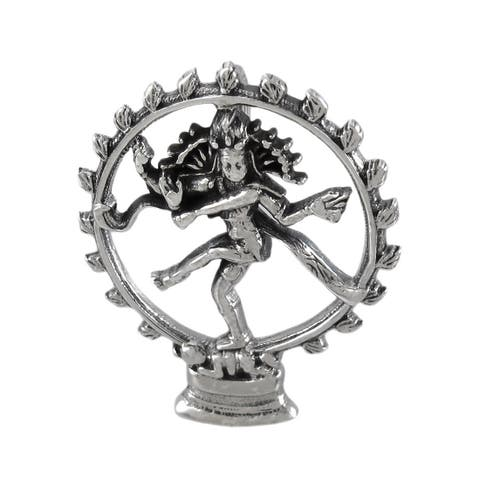 Sterling Silver Dancing Shiva Pendant - One Size